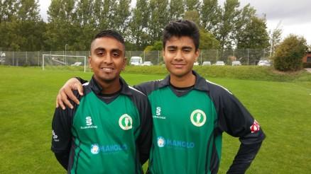 De to talentfulde AB-spillere Usman Ali (tv) og Annique Uddin (th)