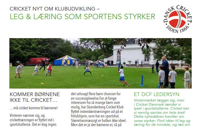 Danske Børn I Cricketklubber Lærer At Spille, Mens De Leger